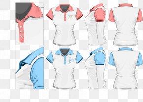 Women's T-shirt Design - T-shirt Sleeve Polo Shirt Female PNG
