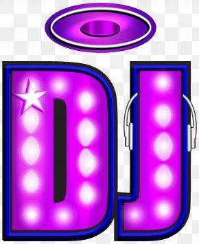 DJ Neon Clip Art Image - Disc Jockey Clip Art PNG