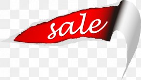 Painted Red Paper Tear Monogram - Paper Label Sales Illustration PNG