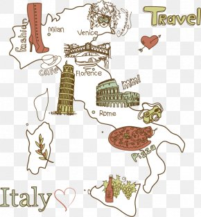Italy Travel Map - Italy Travel Shutterstock PNG