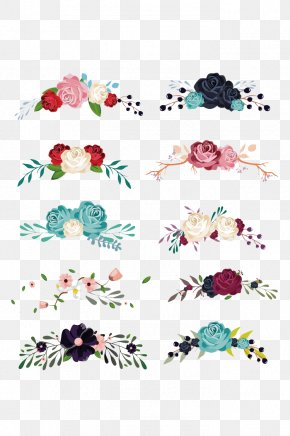 Floral Decoration Collection Vector Material - Flower Euclidean Vector Clip Art PNG