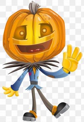 Pumpkin Head Clip Art Image - Pumpkin Calabaza Halloween Clip Art PNG