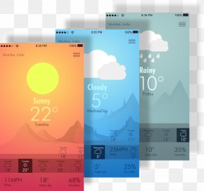 Weather APP Introduction Layout Pictures - Mobile App Graphical User Interface Icon PNG