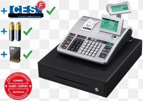 Cash Register - Cash Register Point Of Sale Casio Drawer Sales PNG