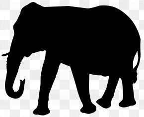 Elephant Silhouette Transparent Clip Art Image - Transparent Elephant Indian Elephant PNG