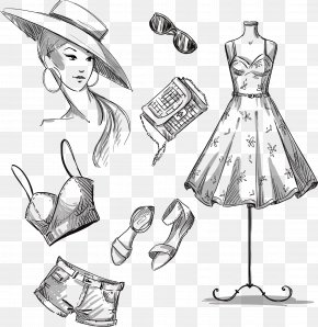 Women Clothes With A Reference - Dress Stock Photography Drawing Clothing PNG