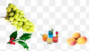 Accessory Fruit Vegetarian Food - Grape Cartoon PNG