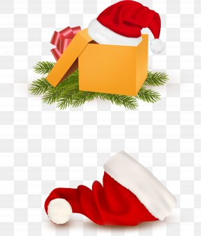Vector Christmas Hat - Christmas Gift Clip Art PNG