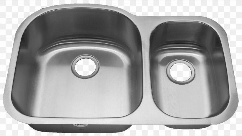 Kitchen Sink Stainless Steel Faucet Handles & Controls Bowl Sink, PNG, 2552x1437px, Sink, Bathroom, Bathroom Sink, Bowl, Bowl Sink Download Free