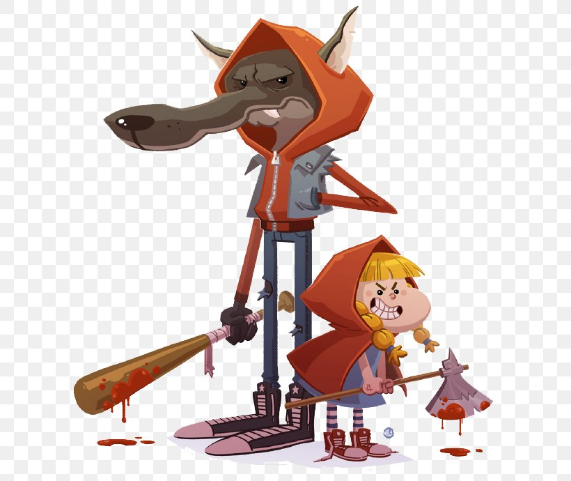 Big Bad Wolf Little Red Riding Hood Gray Wolf Illustration Png