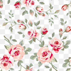 Flower Pattern - Rose Flower Floral Design Pattern PNG