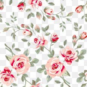 Flower Pattern - Rose Flower Floral Design Pattern PNG
