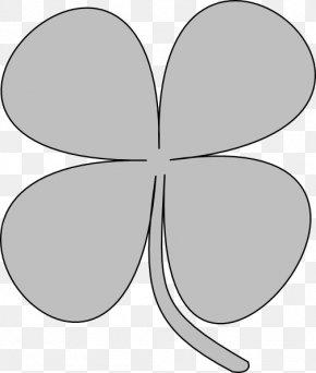 Shamrock Outline - Shamrock Four-leaf Clover Clip Art PNG