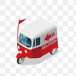Vector Pattern Material City Delivery Door - Car Delivery Courier PNG
