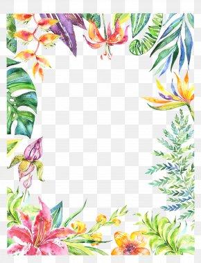 Botanical - Watercolor: Flowers Watercolor Painting Floral Design PNG