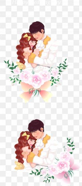Sweet Embracing A Couple - Floral Design Flower Bouquet Cut Flowers Clip Art PNG