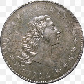 Coin - Dollar Coin Flowing Hair Dollar United States Dollar Half Dollar PNG