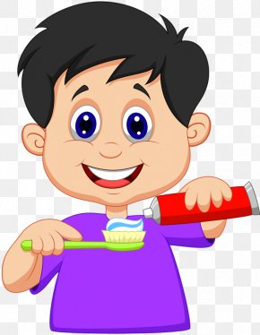 Children Brush Their Teeth - Tooth Brushing Teeth Cleaning Clip Art PNG