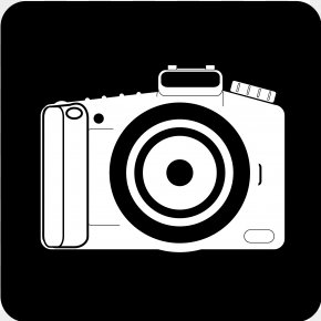 Camera Lens - Camera Photography Black And White Clip Art PNG