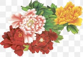 Peony - Moutan Peony Clip Art Floral Design Flower PNG