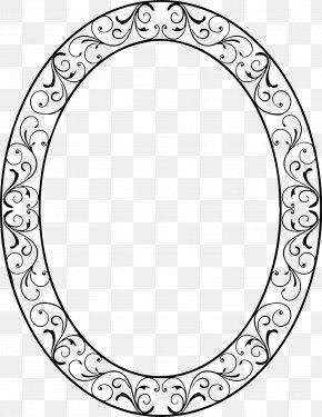 Black And White - Picture Frames Oval Decorative Arts Clip Art PNG