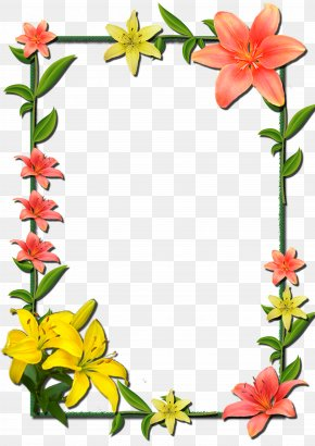 Flower Frame - Borders And Frames Picture Frames Flower Clip Art PNG
