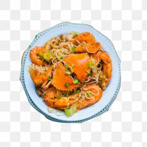 Fans Braised Crab - Chow Mein Crab Chinese Cuisine Seafood PNG