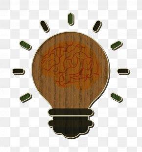 Wood Orange - Brain Icon Idea Icon Human Resources Icon PNG