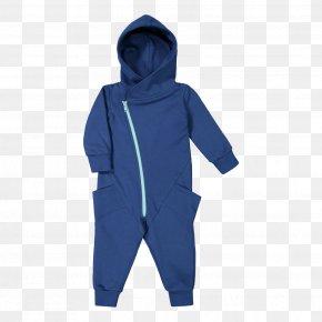 Deep Blue Sea - Blue Hoodie White Jumpsuit Jacket PNG