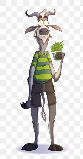 Mr. Goat - Goat Character Model Sheet Animated Cartoon PNG