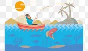 Field Fishing Vector - Fishing Fisherman Angling Clip Art PNG