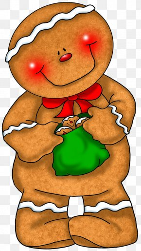 Transparent Gingerbread With Green Bag Clipart - Gingerbread Man Gingerbread House Cookie Clip Art PNG