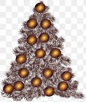 Christmas Tree Abstract Decorative Pattern - Santa Claus Christmas Tree Abstraction PNG