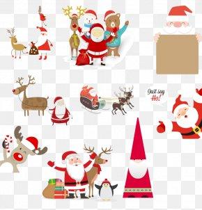 Santa Claus Festival Element - Santa Claus Reindeer Christmas Ornament PNG