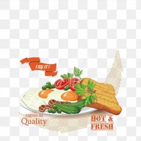 Vector Breakfast - Full Breakfast Graphic Design Poster PNG