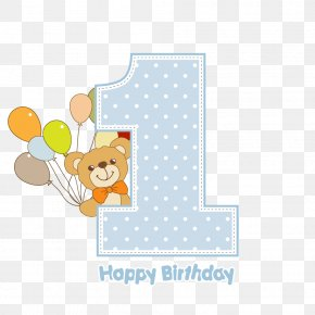 Vector Is One Year Old - Birthday Download Greeting Card PNG