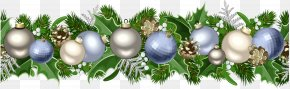 Christmas Deco Garland Picture - Christmas Ornament Garland Clip Art PNG