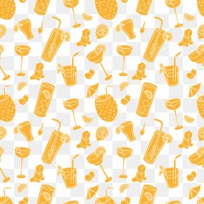 Hand Drawn Seamless Background Vector Summer Drinks - Drink ArtWorks PNG