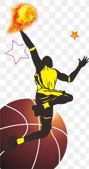 Cartoon Playing Basketball - Basketball Sport Poster PNG