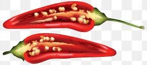 Half Red Chili Pepper Clip Art Image - Chili Pepper Bell Pepper Cayenne Pepper Serrano Pepper PNG