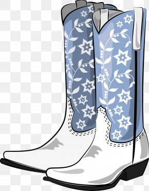 Vector Hand-painted Boots - Cowboy Boot Clip Art PNG