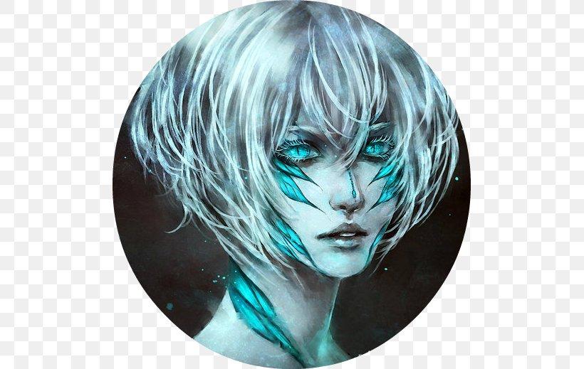 DeviantArt Portrait Digital Art Watercolor Painting, PNG, 503x519px, Art, Artist, Bangs, Black Hair, Blue Download Free