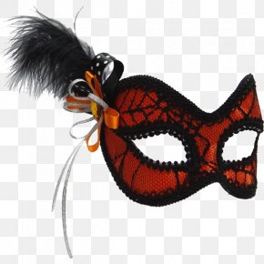 Plumas De Ave - Mask Clothing Accessories Halloween Masquerade Ball Red PNG