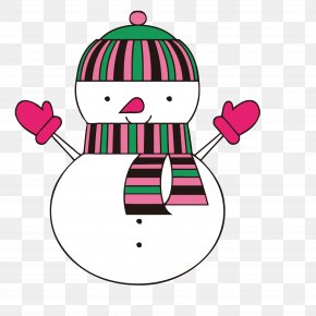 Gloved Snowman - Snowman Glove Christmas Computer File PNG