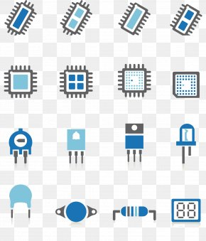Electronic Components Icon - Electronic Component Integrated Circuit Transistor Icon PNG