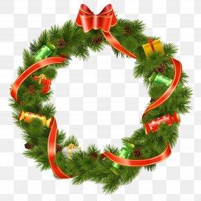Wreath - Mistletoe Christmas Decoration PNG