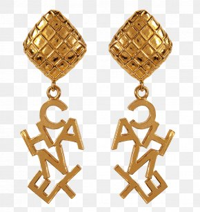 Gold Chain - Chanel Earring Jewellery Gold Clothing PNG