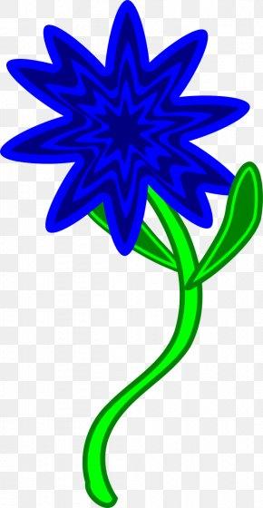 Blue Flower - Flower Plant Stem Blue Clip Art PNG