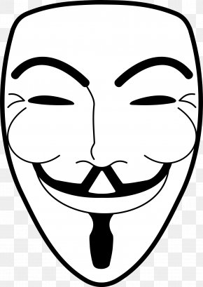 Mask - Guy Fawkes Mask Clip Art PNG