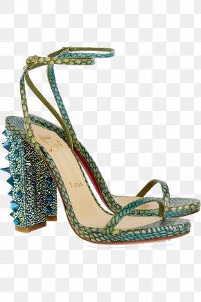 Blue Strap High-heeled Sandals - Sandal Court Shoe High-heeled Footwear Leather PNG
